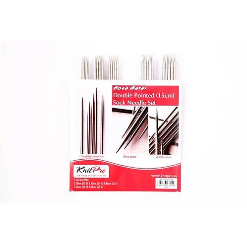 KnitPro Nova Metal Sokkennaalden Set 15 Cm