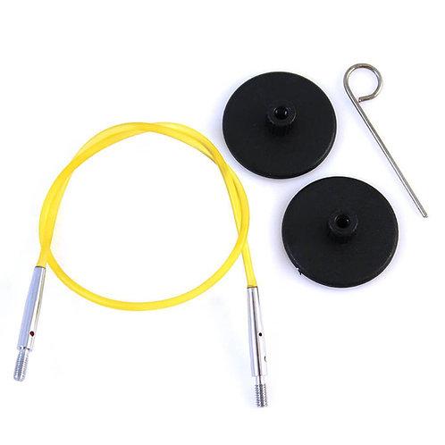 Knitpro Kabel voor Rondbreinaald 40 cm Geel