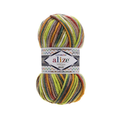 Alize Superlana Maxi Multi Colour 52149