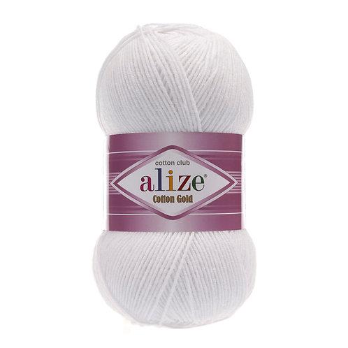 Alize Cotton Gold White 55