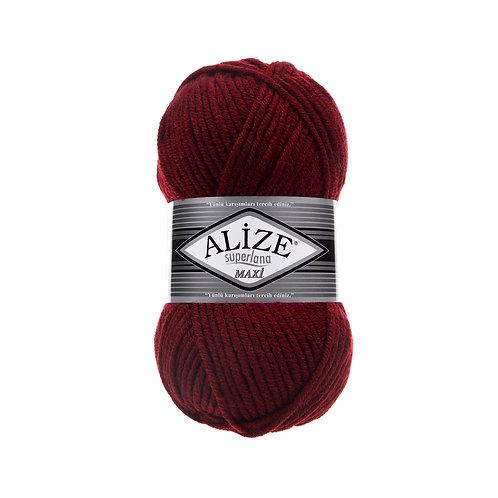 Alize Superlana Maxi Bordeaux 57