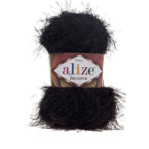 Alize Decofur Black 60