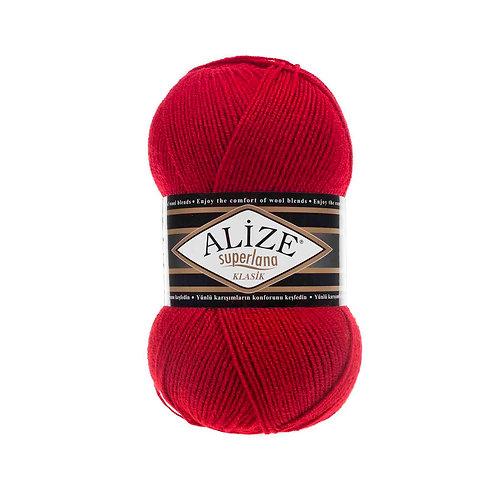Alize Superlana Klasik Red 56