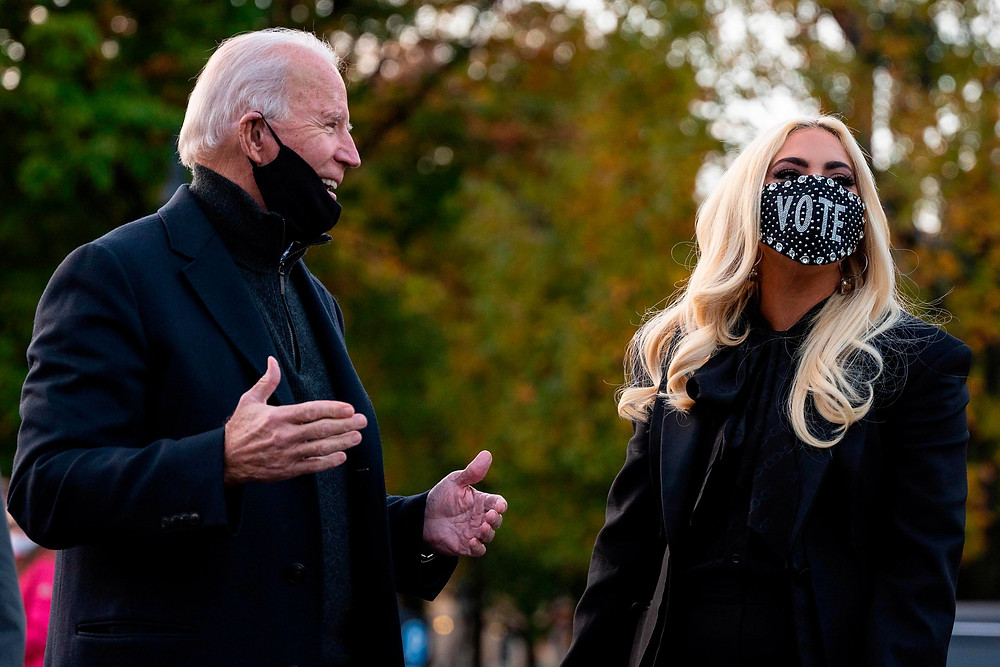 Lady Gaga e Joe Biden