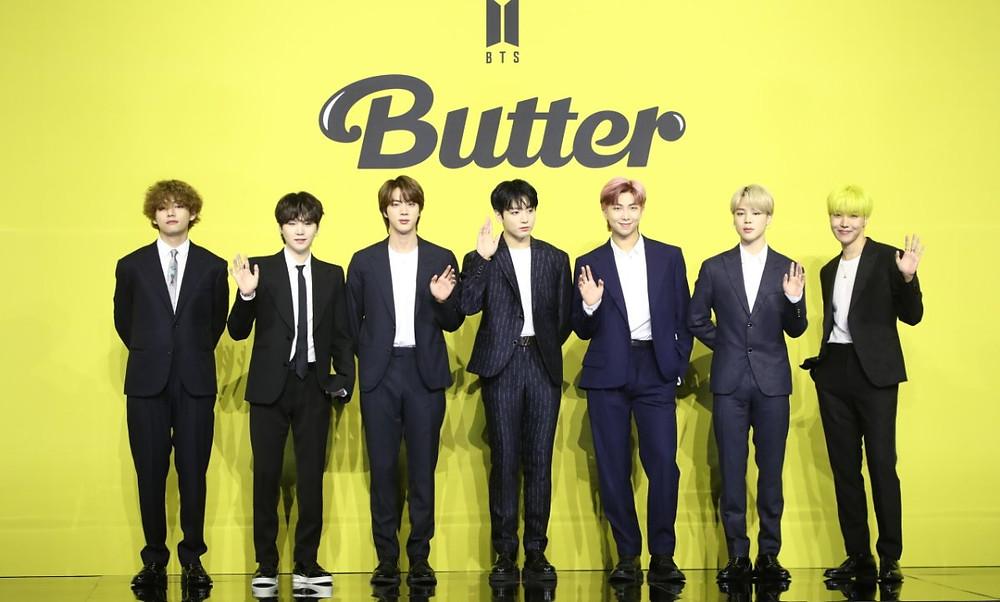 Música do BTS se torna a maior estreia da história do Spotify e do Youtube butter