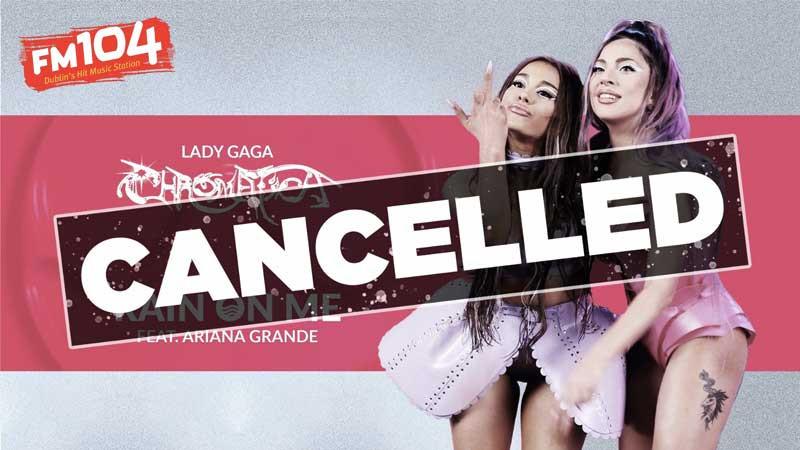 Rain On Me de Lady Gaga e Ariana Grande foi banida das rádios irlandesas