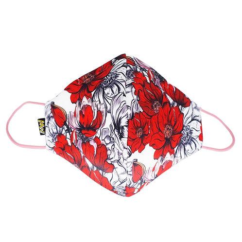大紅花黑赤布口罩