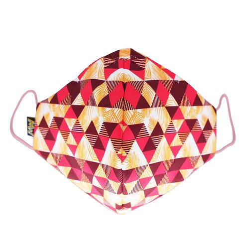 粉紅格紋布口罩