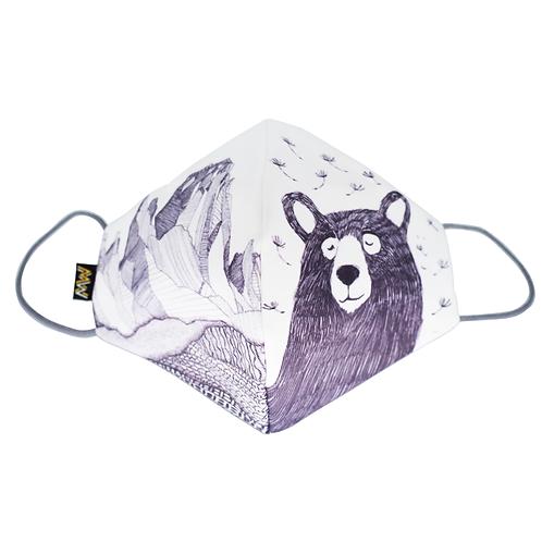 白色熊人布口罩