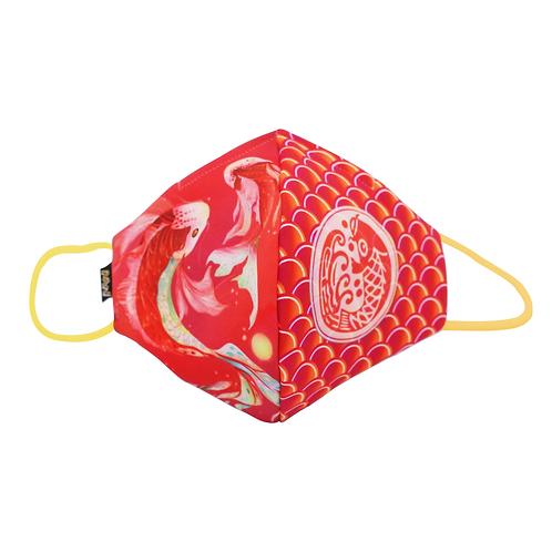 錦鯉魚鱗布口罩