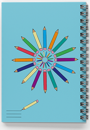 מחברת ספירלה עפרונות