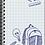 Thumbnail: מחברת ספירלה עט כחול