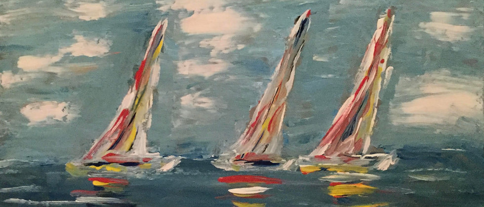 """Hamptons Regatta"" An Original Painting"