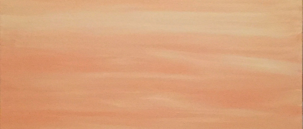 """Creamsicle Sky"" An Original Painting"
