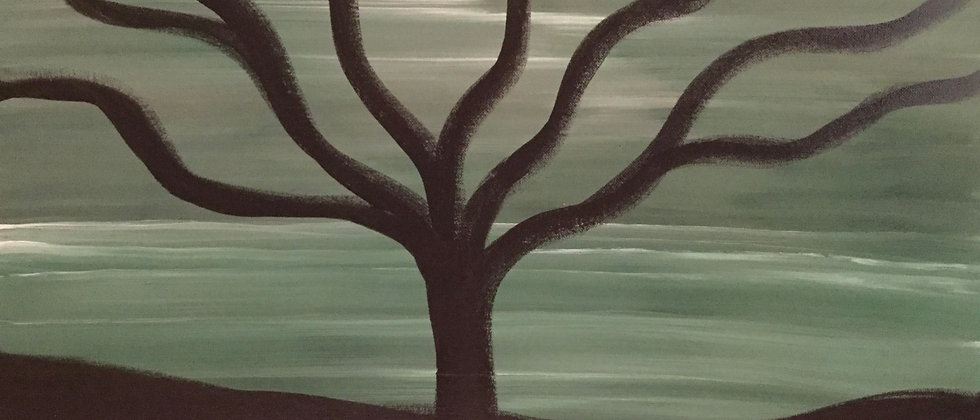 """""""The Tree of the Silent Night"""" An Original Painting"""