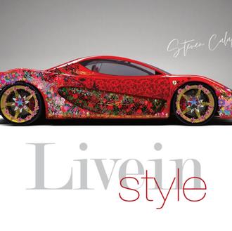 Flowers on Ferrari LiveIn Style