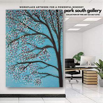 Sakura Rebirth as Workplace Art