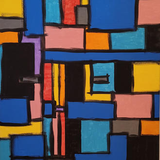 Shapes in Abstract Original Painting