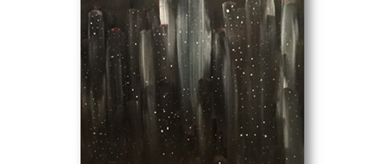 """City at Night"" An Original Painting"