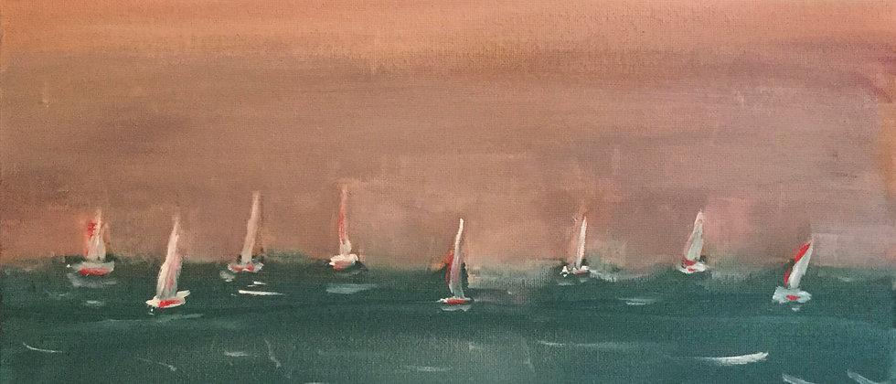 """Montauk Regatta"" An Original Painting"