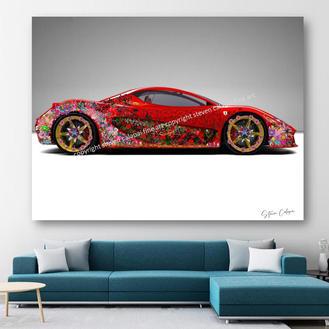 Flowers on Ferrari