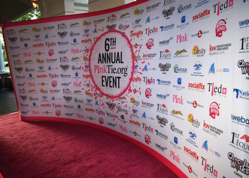 Pink Carpet Charity Sponsors Step and Repeat