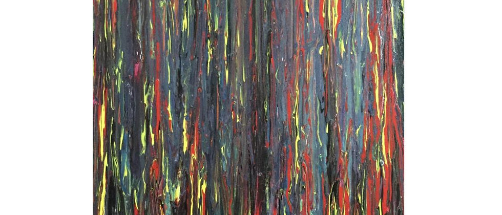 """""""Fire In The Forest"""" An Original Painting"""