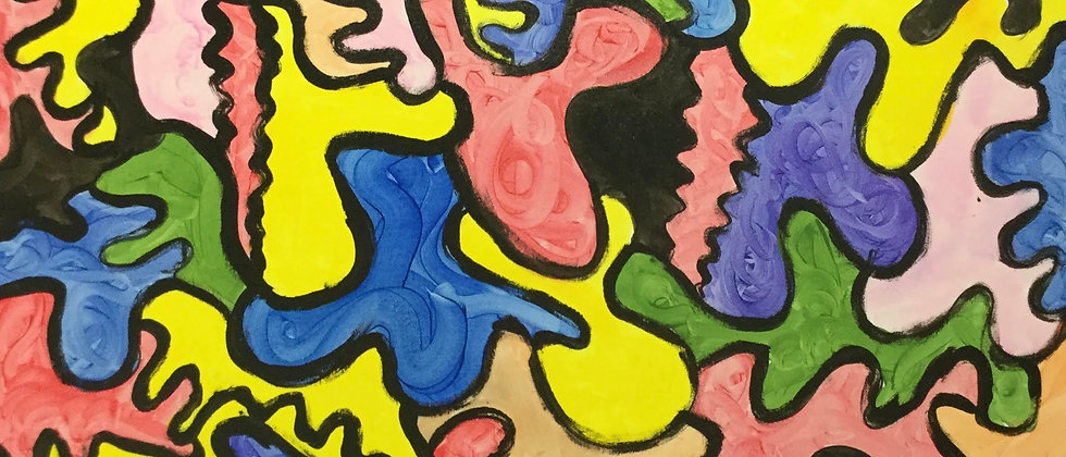 """""""Puzzle of Life-Intertwined Souls"""" An Original Painting"""