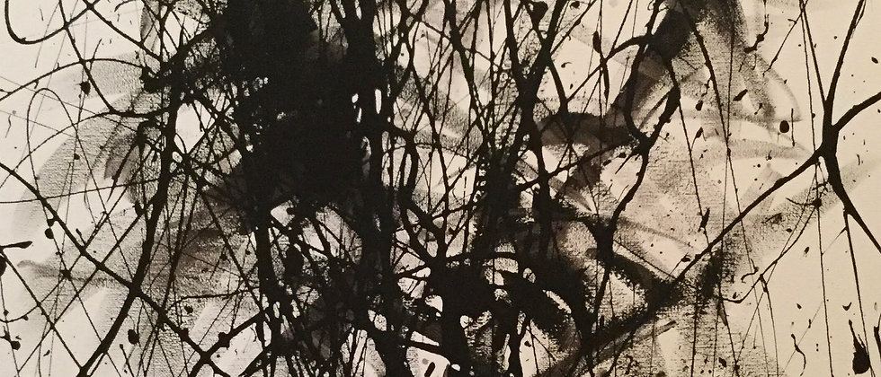 """Black and White Abstract No. 6"" An Original Painting"