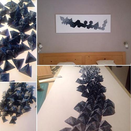 Papierglücksymmetrie #origami #papierliebe