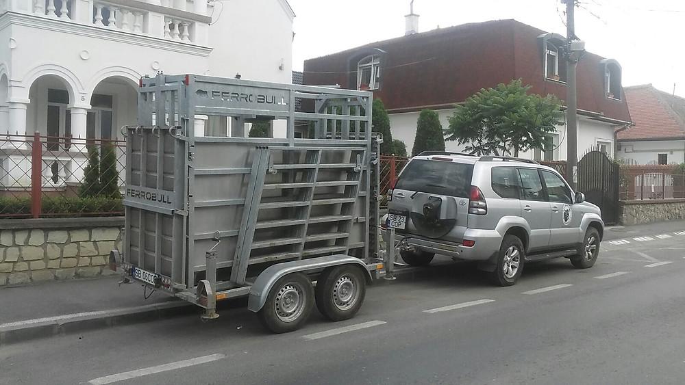 CÂNTAR ANIMALE PE REMORCĂ