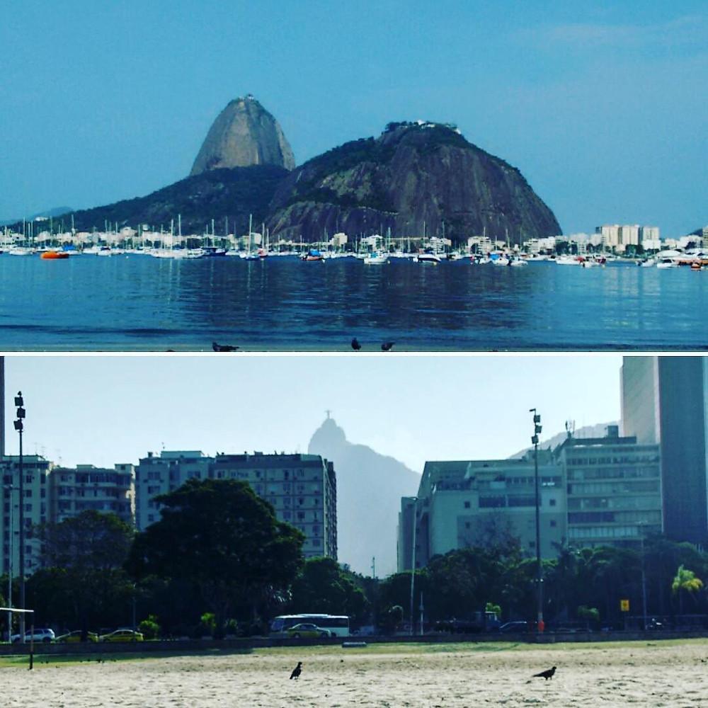 Vista do Pão de Açúcar e do Cristo - Praia de Botafogo
