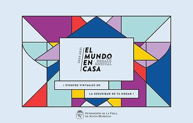 Website El Mundo en Casa blanco con logo