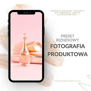 presety biznesowe fotografia produktowa.