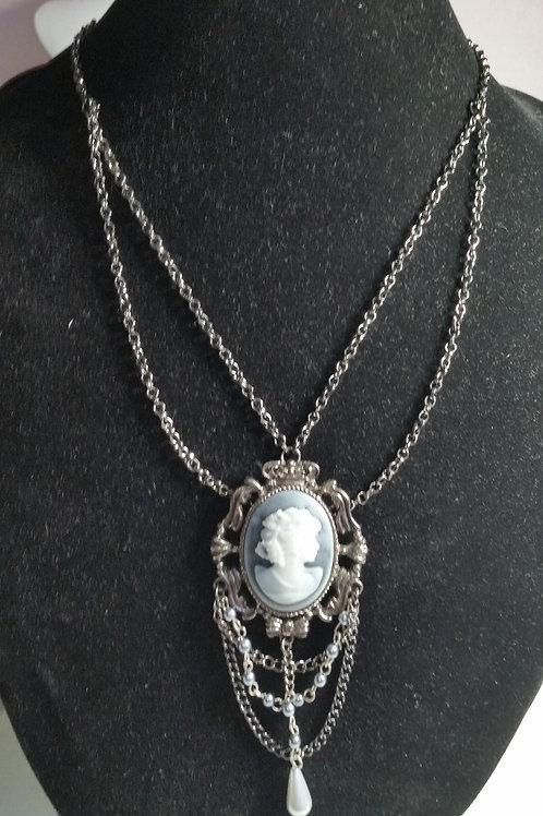 20in multi-strand Cameo drop necklace