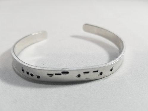 Hope Morse Code stamped bracelet
