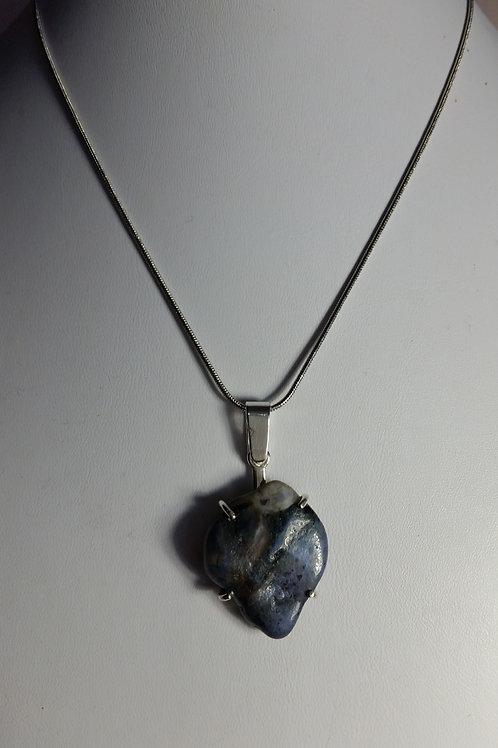40ct Dumortierite Quartz Necklace