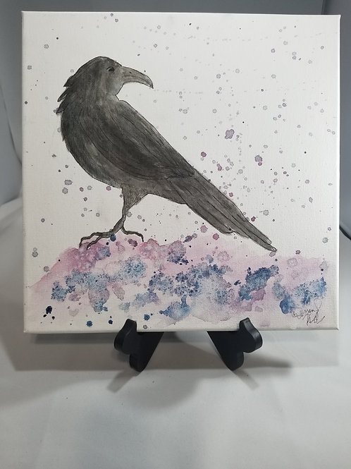 Watercolor crow