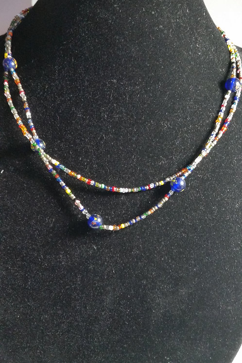 19in multi-strand seed bead necklace