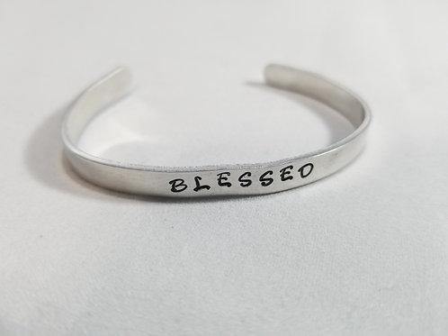 Blessed stamped bracelet