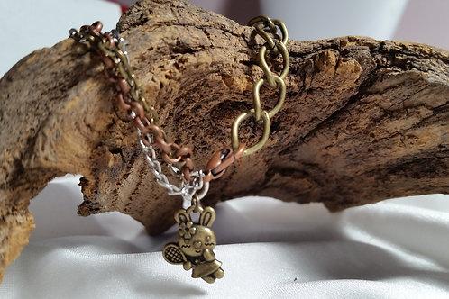 Adjustable multi-strand bunny bracelet