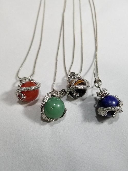 Dragon Gemstone Necklace