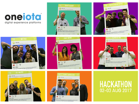 One iota's 2017 Hackathon teams…but who will be crowned this year's winners?