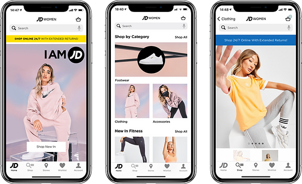Mobile App Developers Manchester - JD Women