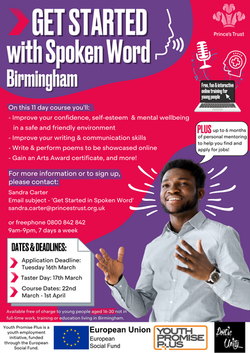 GS with Spoken Word Bham March Poster