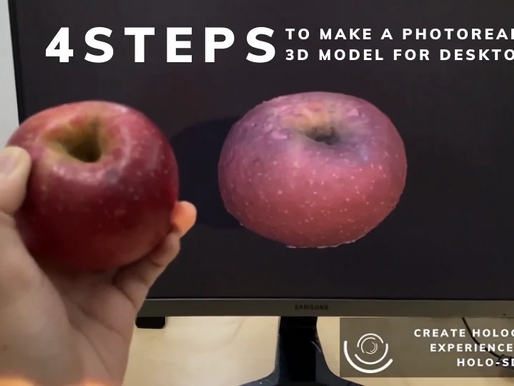 4 STEPS to Make a Photorealistic 3D Model for VR/AR with Mobile Phone