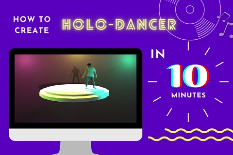 Create 3D Holographic DANCER in 10 minutes!