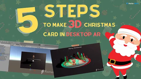 Santa Claus is coming to town! 5 Steps to Make 3D Magical Christmas Card