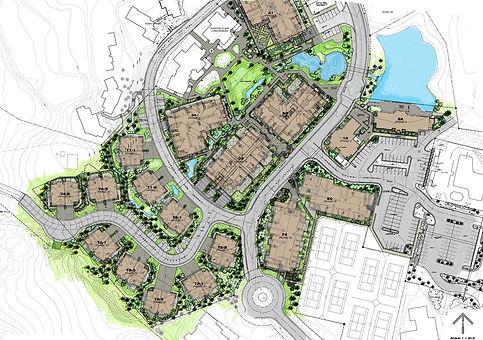 master plan landscape color drawing rend