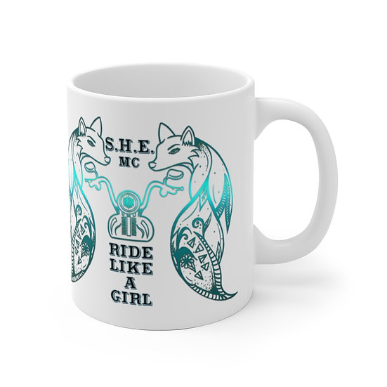 SHE MC White Ceramic Mug
